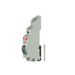 BOUTON POUSSOIR MODULAIRE ABB LUMINEUX 1F 115-250V AC 16A VERT
