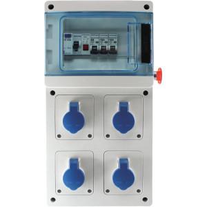 COFFRET CHANTIER 4PC 2P+T 230V 16A IP44 VOYANT AU